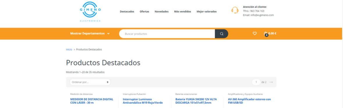 Gimeno E-commerce